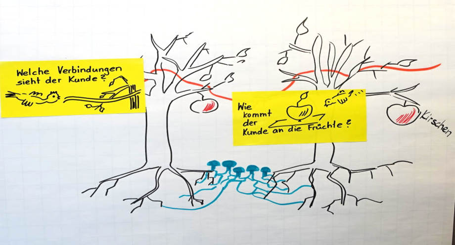 Visuelle Moderation im Dialog mit Metapher Hartmann-Wall