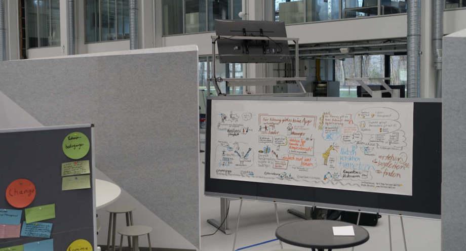 Graphic Recording Hartmann-Wall Stuttgart